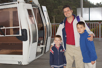 Photo: The boys and I are the only ones brave enough to take the cable car to 13,300 feet elevation.