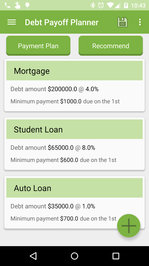 Debt Payoff Planner - screenshot