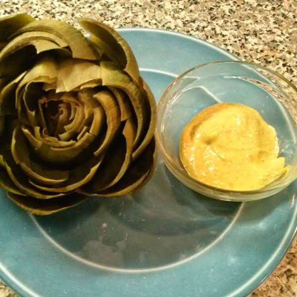 Artichoke With Mustard Aoili Sauce Recipe