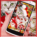 merry Christmas cat cute theme icon