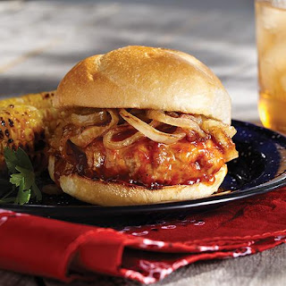 Western Rib Burger with Smoky Apricot Barbecue Sauce