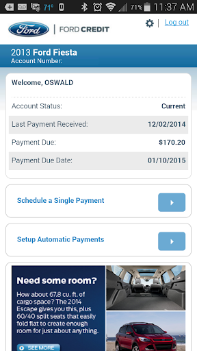 Ford Credit Account Manager screenshot 1