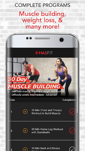 HASfit Home Workout Routines & Fitness Plans screenshot 3