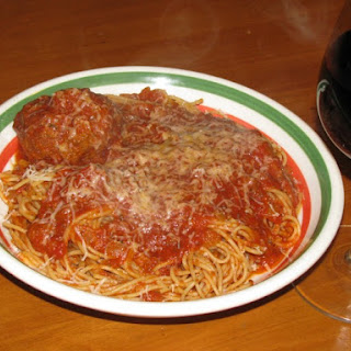 Spaghetti and Meatballs in a Crock Pot- 410 calories