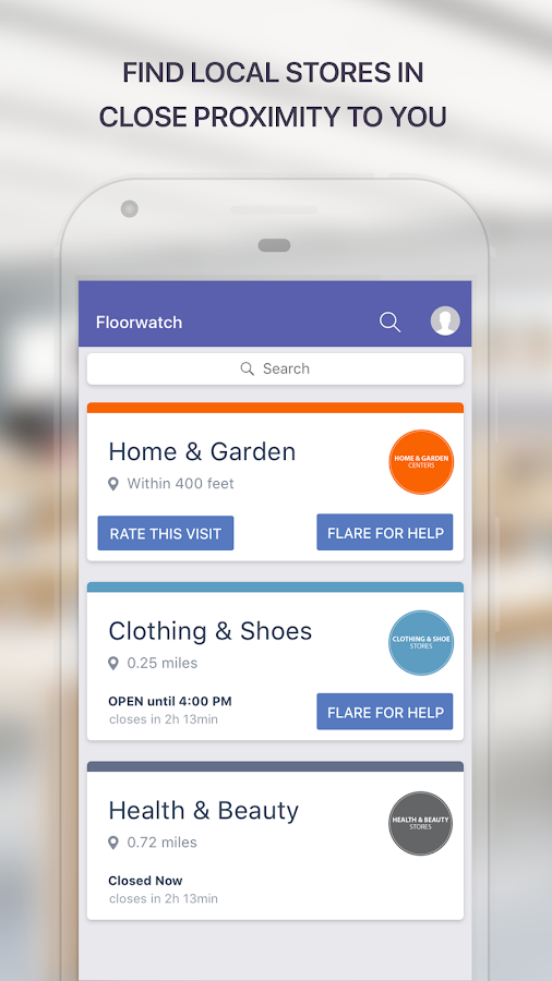 Floorwatch: Get store help- screenshot