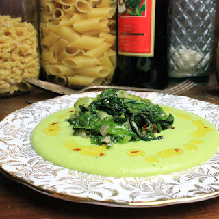 FRESH FAVA BEAN PUREE AND CHICORY (Fave e cicoria) – serves 2-3 as an ample appetizer