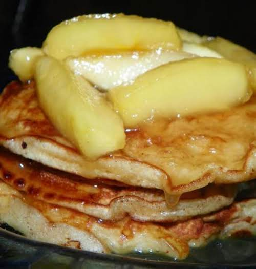 "Buttermilk Pancakes with Maple Syrup Apples""They were quick and easy to make..."