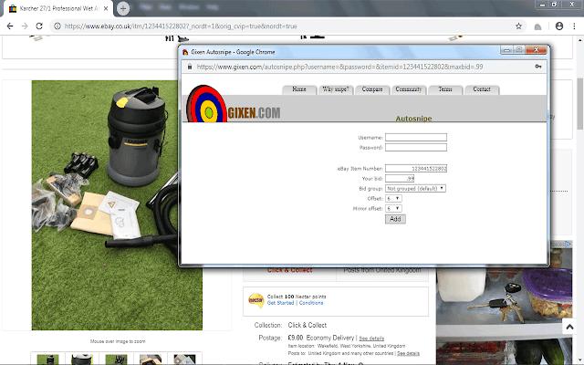 Gixen Ebay Sniper Autosnipe