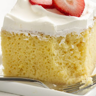 Skinny Tres Leches Cake.
