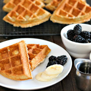 Oatmeal Waffles (Freezer Friendly).