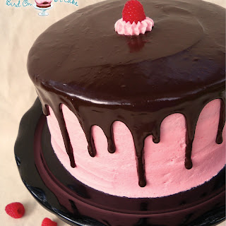 Raspberry Cake with Dark Chocolate Ganache