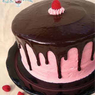 Raspberry Cake with Dark Chocolate Ganache.