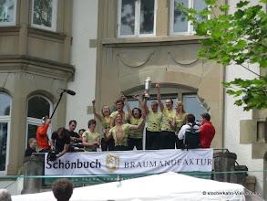 Photo: Die Stocherkahnrennen Siegerehrung 2011 - überraschend hat das Tigerteam (Hochschulsport der Uni Tübingen) gewonnen. Zum Rennen mussten Sie sich erstmal einen Kahn leihen.