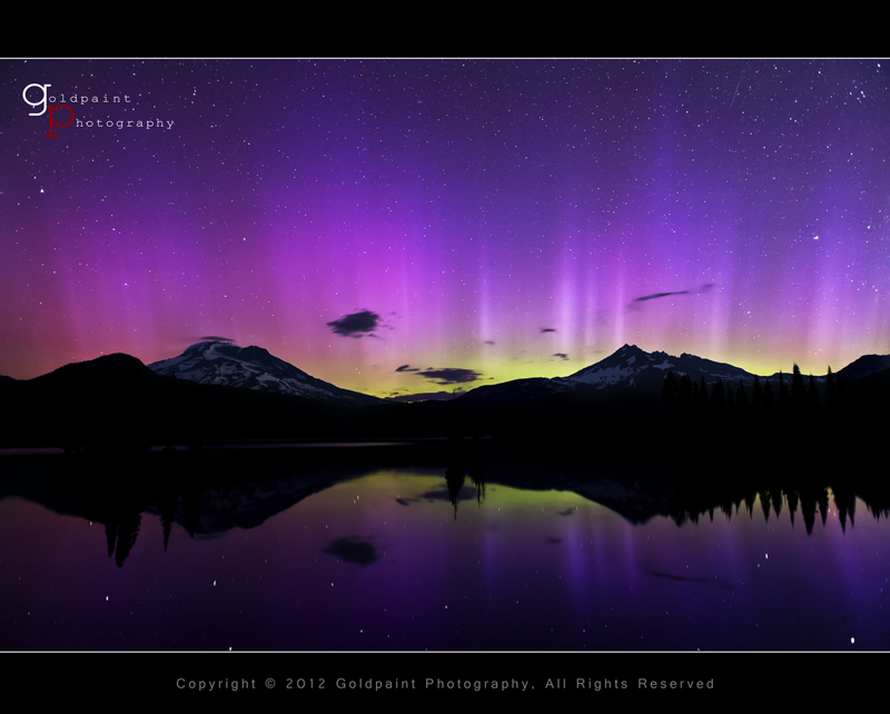 Photo: Ambitious Dreams  The aurora borealis dancing over Sparks Lake in Central Oregon on July 15, 2012. #starrynights   Last nights display will be included in my upcoming time-lapse video. Stay tuned!  +Michael Menefee, this ones for you!  http://www.goldpaintphotography.com/