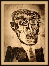 Photo: Antonio Berni El amigo espiritual de Ramona 1963. Xilocollage. Matriz xilográfica: 78 x 56,5 cm. Estampa: 87,5 x 64,5 cm. Colección particular, Buenos Aires. Expo: Antonio Berni. Juanito y Ramona (MALBA 2014-2015)