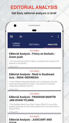 Daily Editorial ud83duddde-Vocabulary & Current affairs 1.6.0 screenshots 2