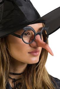 Glasögon med häxnäsa