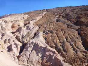 Photo: The fault surface at Badwater turtleback.
