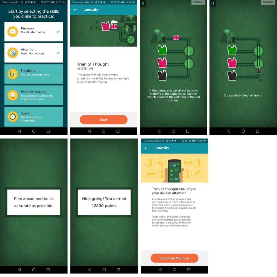 Lumosity App User Onboarding