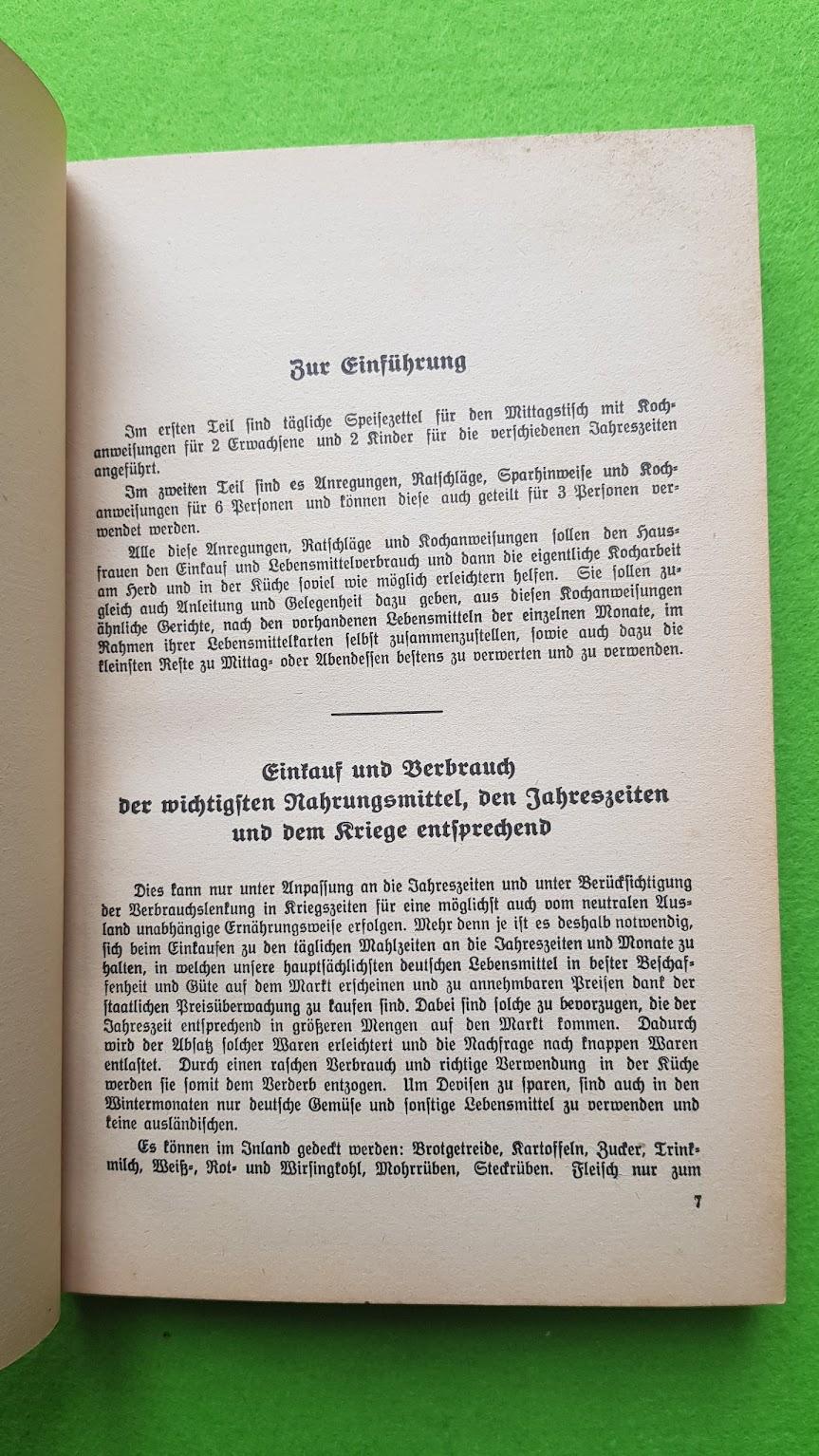 Eugen Bechtel, Nahrhaft, schmackhaft kochen - auch im Krieg!, 1940