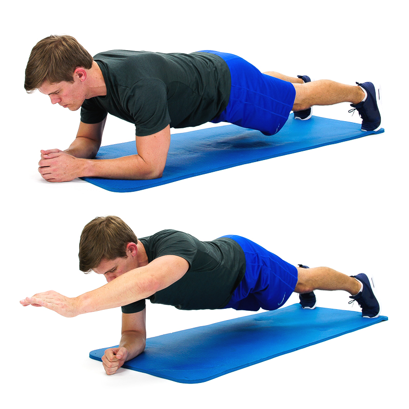 Plank with alternate arms