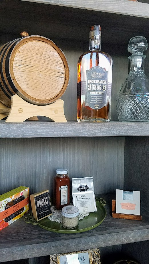 Uncle Nearest Whiskey, collaborations into other products varying from tea, smoked salt, hot sauce, chocolates and candy and more