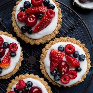 Fruit and Yogurt Granola Tarts (Gluten-Free, Vegan).