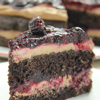 Chocolate Cherry Mousse Cake.