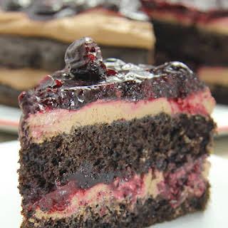 Chocolate Cherry Mousse Cake.