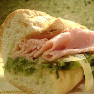 Kicked Up Broccoli Rabe & Ham Hero!