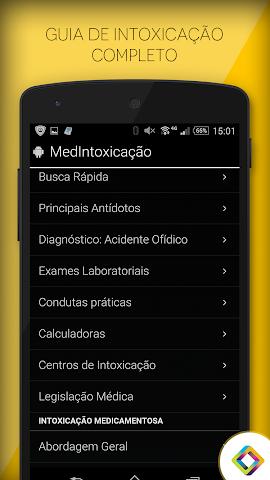 android MedIntoxicação: Intoxicações Screenshot 4