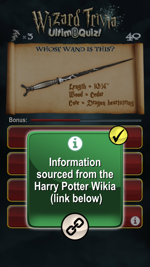 Harry Potter Wizard Quiz: U8Q- screenshot