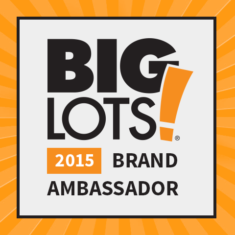 Proud to be a 2015 Big Lots Brand Ambassador!