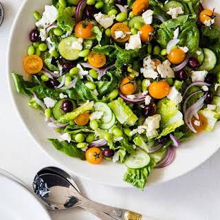 Greek Salad with Edamame.