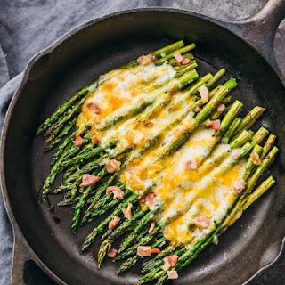 Cheesy Baked Asparagus With Bacon.