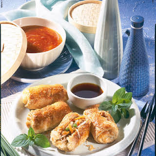 Puff Pastry Spring Rolls.