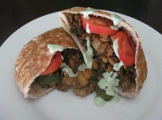 I Posted This Same Picture On My Pita Bread Recipe Page - That Way You Can See How This Recipe Comes Together In A Pita Pocket! Picture From The Mellow Mushroom Along With Their Recipe And Posted By Ashlee On Http://www.veggiebyseason.com/