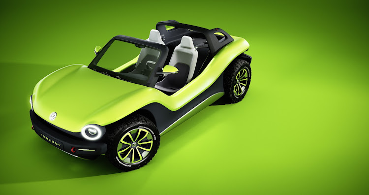 The concept car is a fully electric interpretation of the iconic American beach buggy popular in the 1960s and 1970s. Picture: SUPPLIED