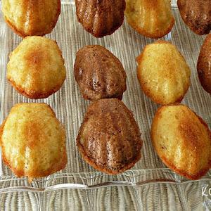 Mini Chocolate and Vanilla Madeleines
