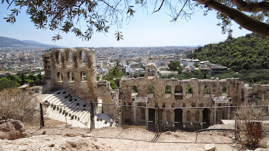 Photo: Theater of Dionysus from above. My favorite Greek God, BTW.