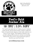 Uncle Bear's Fool's Gold Amber Ale