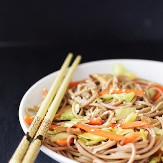 Healthy Ramen with Sesame and Fresh Vegetables