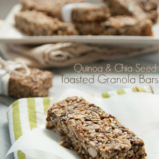 Quinoa and Chia Seed Toasted Granola Bars