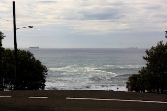 Photo: Year 2 Day 175 -  Steep Residential Roads on our Right, Down to the Ocean