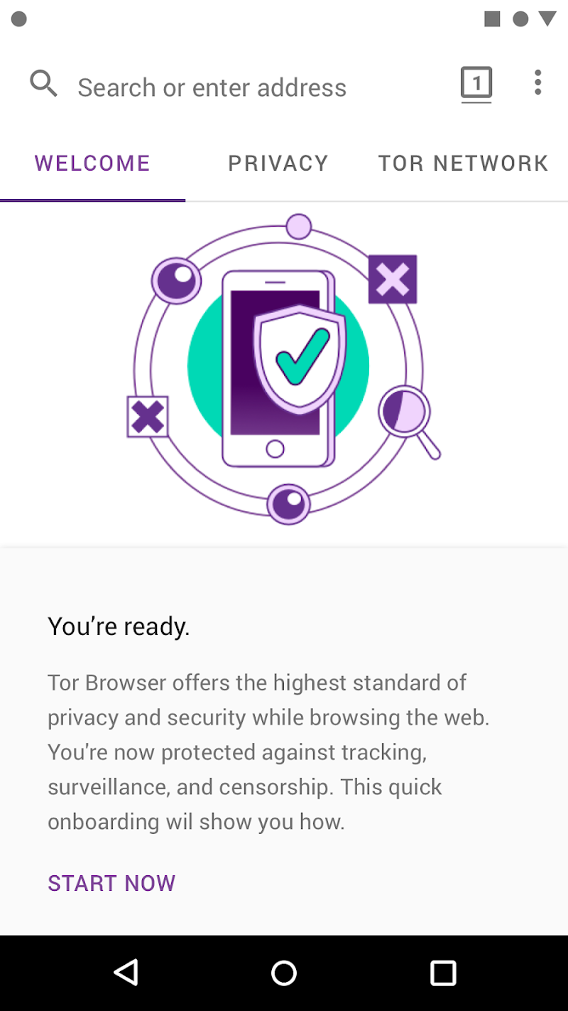 Tor Browser (Alpha) Screenshot 1