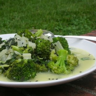 BROCCOLI & BOK CHOY with COCONUT & CURRY