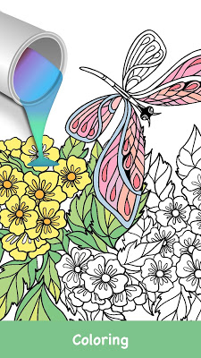 Butterflies coloring game - screenshot
