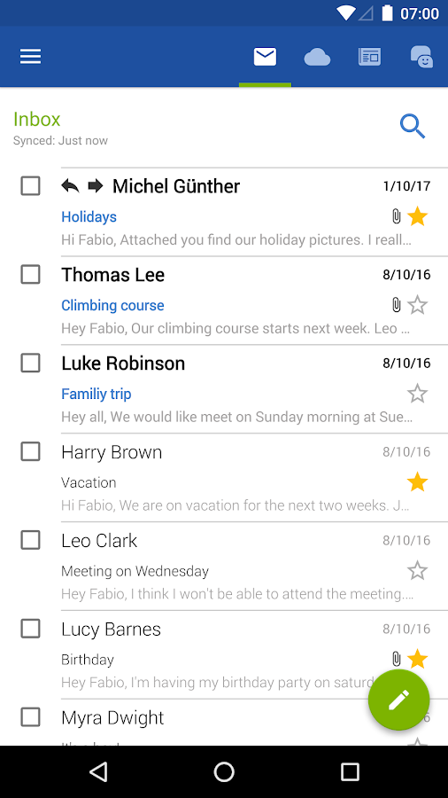 Screenshots of GMX Mail for iPhone