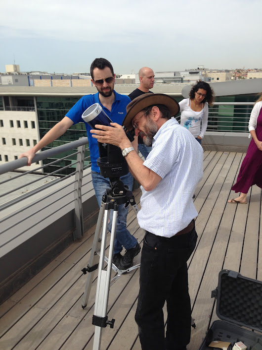 On the roof in Rosh Haayin (thanks to Monica)