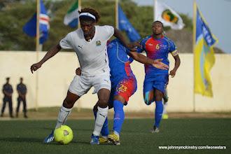 Photo: Mohamed 'Poborsky' Bangura (Leone Stars) [vs. Cape Verde, June 2013 (Pic: Darren McKinstry)]